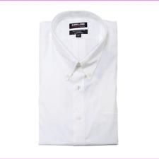 Kirkland Signature Men Traditional Fit Button-Down Long Sleeve Dress Shirt