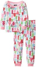 New Mud Pie 2 pc CHRISTMAS TREE LOUNGE SET Holiday Pajamas PINK 6-9 months gift