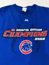 Chicago Cubs 2008 NL Central Division Champs T-shirt - Size XXL - Roster On Back