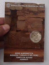 1 SOL 2013  COIN BLISTER RIQUEZA ORGULLO DEL PERU  TEMPLO OF KOTOSH # 13