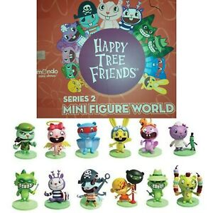 HAPPY TREE FRIENDS MINI FIGURES WORLD SERIES 1 & 2 COLLECTIBLE FULL SET OF 13