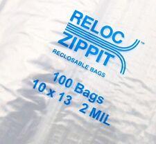 """500 ZIPLOCK BAGS LARGE 10"""" x 13"""" CLEAR 2 MIL ZIP RECLOSABLE ZIPPIT RELOC 10x13"""