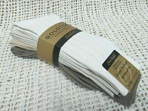 GOLDTOE 4-Pack SHEFFIELD Premium Pima Cotton Men's Socks Size 10-13 ~ NWT