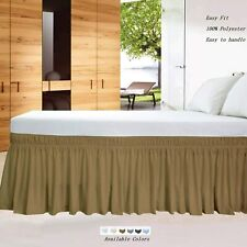 100% Microfiber Wrap Around Bed Skirt Three Sided Cover All Size/Deep Pocket