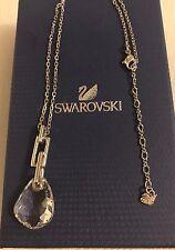 Genuine Ciondolo di Swarovski paralleli, trasparente cristallo e metallo argento