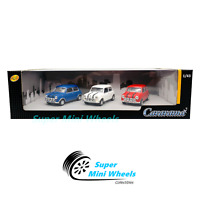 Cararama 1:43 Mini Cooper (Blue, White, Red) in Plastic Case - 3-Car Set