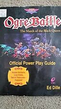 Ogre Battle SNES strategy game guide good condition!