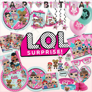 LOL Surprise Dolls Birthday Party Supplies Decoration Tableware Favours Balloons