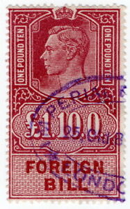 (I.B) George VI Revenue : Foreign Bill £1 10/-