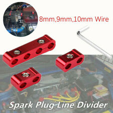 3*Red Aluminum Engine Spark Plug Wire Separators Divider Organizer Clamp 8-10mm
