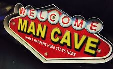 MAN CAVE LED METAL SIGN VINTAGE LOOK FOR GAME ROOM, MAN CAVE. REMOTE CONTROL!