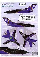 Syhart Decals 1/48 PANAVIA TORNADO German 40 Year JBG-38 Special Scheme