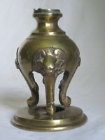 vintage Asian brass dragon leg detail ? candle stand footed Oriental antique *?