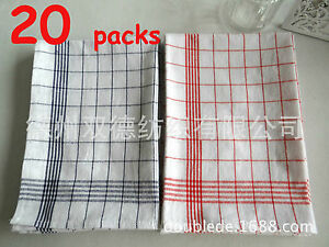20 Pack Of Brand New Cotton Commercial Kitchen Tea Towels TET01
