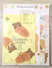 NEW SAN-X Rilakkuma Letter writing set Bakery 4 design JAPAN KAWAII