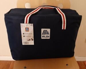 New ALDI  Extra Large Tall Navy Thermal Insulated Groceries Tote Bag Container