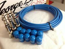 George L's 155 Pedalboard Effects Cable Kit .155 Blue / Nickel - 10/10/10