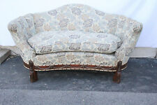 Lovely Regency Style Comfortable Carved Love Seat Loveseat, c. 1930