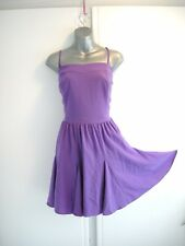 18 COLEEN PURPLE FLIPPY MINI DRESS + STRAPS PARTY WEDDING HOLIDAY OCCASION XMAS
