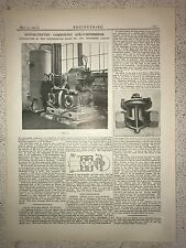 Motor Driven Compound Air Compressor, London: 1912 Engineering Magazine Print