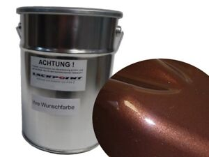 1 Liter Spritzfertigen Basislack Deep Toffee Candy Braun Metallic Autolack neu !