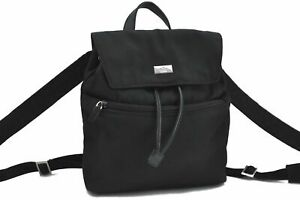 Authentic GUCCI Backpack Nylon Leather 0030242 Black E1961