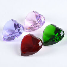 90mm Heart Glasses Crystal Diamond Shaped Paperweights Wedding Ornaments Gifts