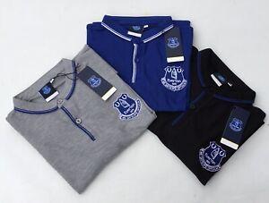 Everton Men's Polo Shirt Official EFC Football Shirt Top Tee T-Shirt Size M-XXL