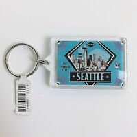 Established 1869 Seattle The Emerald City Keyring Keychain Holder Collectible