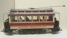 United Traction Railroad Closed Trolley w/ people Bachmann 93939 - RTR - G Scale