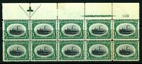 USAstamps Unused FVF US Pan-American Arrow Plate Block of 10 Sctt 294 OG MNH MHR