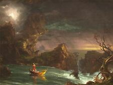 THOMAS COLE AMERICAN VOYAGE LIFE MANHOOD OLD ART PAINTING POSTER BB6415A