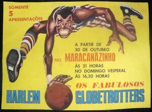 ORIGINAL HARLEM GLOBETROTTERS X NEW YORK NATIONALS 1970 PRESENTATION  POSTER