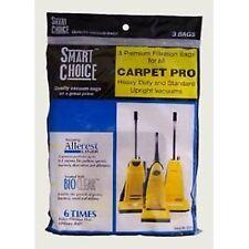 3  Genuine Carpet Pro 06.153 / FB06153 CPU Upright Vacuum Bags