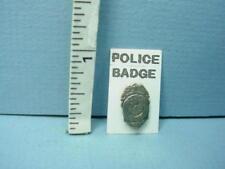 Miniature Policeman's Badge Teri's Workshop Metal 1/12th Scale