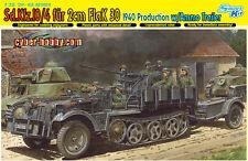 1/35 German Sd.Kfz.10/4 fur 2cm FlaK 30, 1940 w/ammo trailer ~ Dragon DML #6711