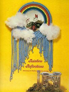 Rainbow Mirror & Plant Hanger Patterns Macrame Splendor No 3 Craft Book RARE MS3