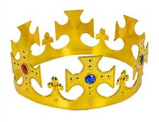 6 Gold Jeweled Prince King Crown Costume Plastic Decoration Birthday Party Favor