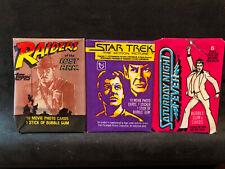 3 - Vintage Saturday Night Fever/Star Trek/Raiders wax packs - Unopened