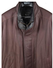 Remy Leather Classic Double Collar Bomber BROWN Nordstrom $1195 - Size 48BIG NEW