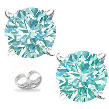 1.61ct  vvs1./WHITE ICE BLUE MOISSANITE DIAMOND .925 SILVER EARRING