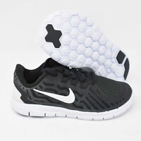 Nike Free 5 725106-001 Kids PS Running Shoes Black & White