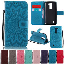 Sunflower Stand ID Wallet Leather Skin Flip Case Cover For LG K7 K8 K10 G5 LS775