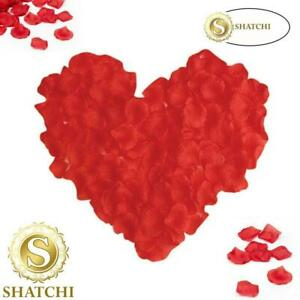 1200 Red Quality Silk Rose Petals Table Confetti Wedding anniversary Decorations