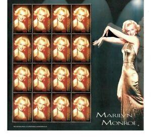 Grenadines 2004  - Marilyn Monroe  - Sheet of Sixteen  - MNH