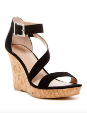 $90 Charles By Charles David Women's Cork Wedge Sandals Size 9.5