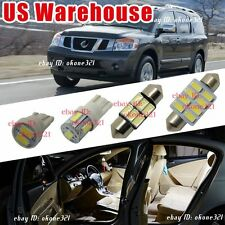 14-pc Luxury White LED Lights Interior Package Kit For Nissan Armada 2005 & up
