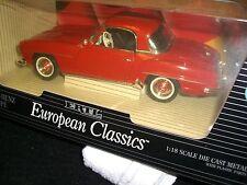 1/18 1992 ERTL European Classics Mercedes-Benz 190 SL Coupe in red
