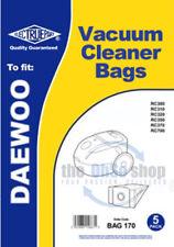 5 X Daewoo Aspirateur Sac Pour RC370, RC700, RC7005 (B), RC7007, RC780