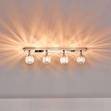 [Lux.Pro]® Deckenleuchte 4 Kristall Kugel 49cm Moderne Deckenlampe Effektlampe